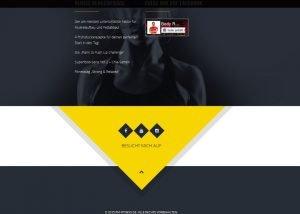 Homepage Erstellung Fitnesstrainer 1