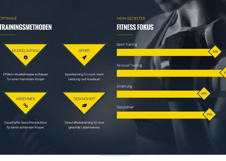 Website Erstellung Fitnesstrainer