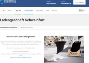 Homepage Erstellung Smartphone Reparatur 3