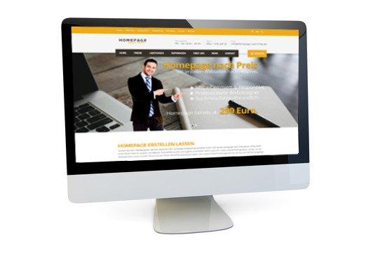 Webseite mieten für 49 Euro
