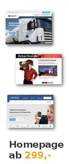Homepage Kosten Angebot