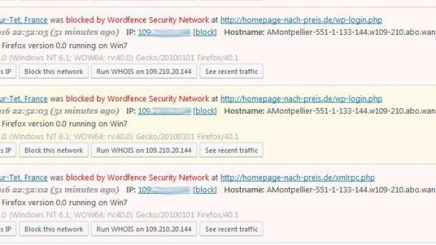 WordPress Webseite vor Hacker schützen / XML-RPC