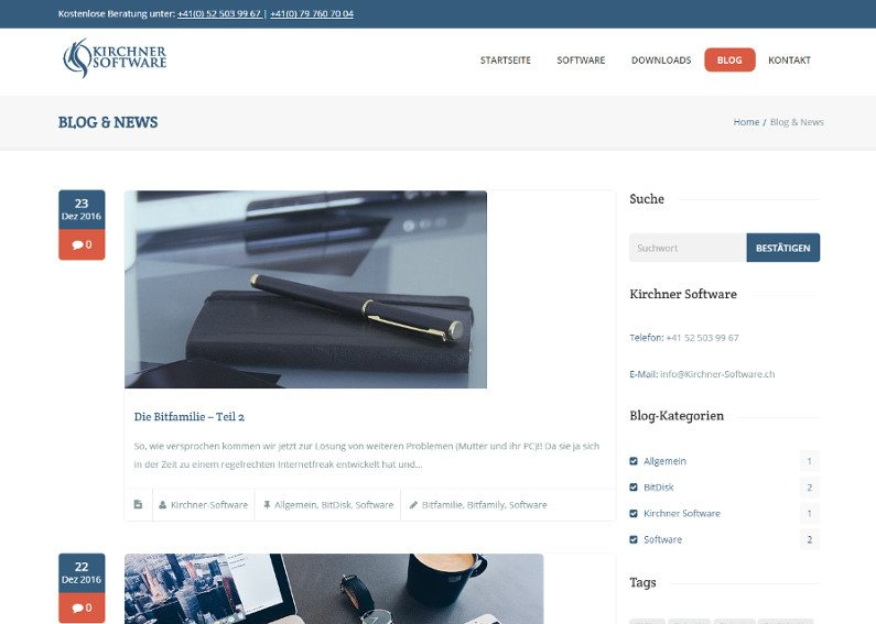 Corporate Business Homepage