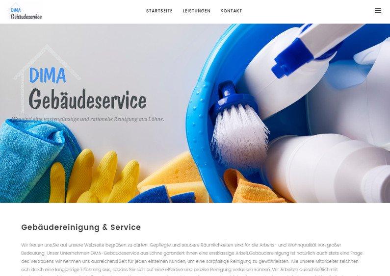 Business Internetseite Gebäudereinigung