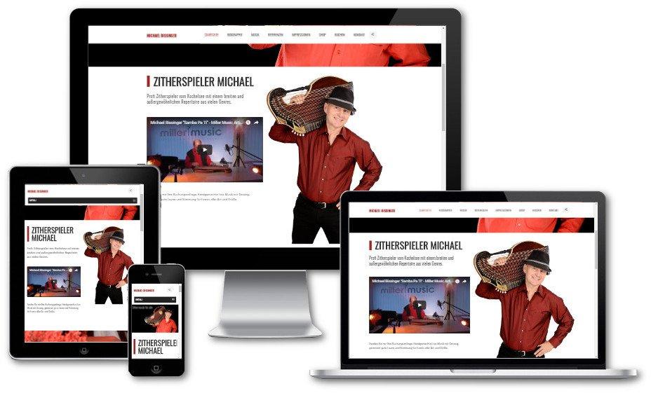 Internetseite von Webdesigner mieten