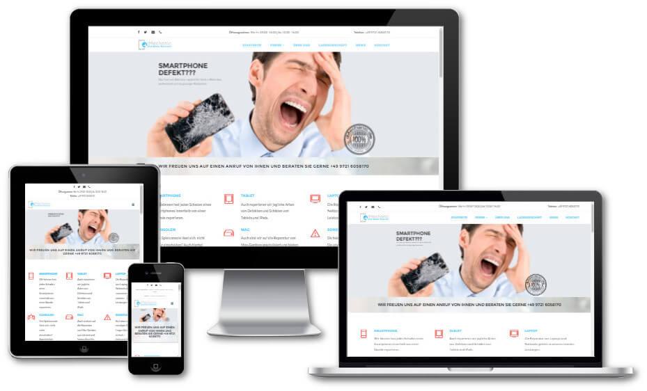 Internetseite von Webdesigner