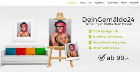 Webshop modernes Design