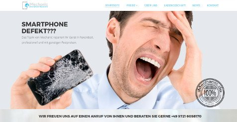 Website modernes Design