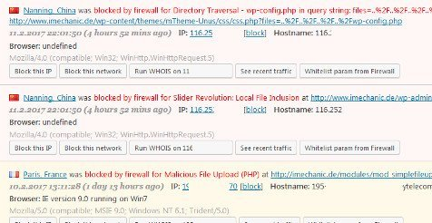 Wordpress Webseite Firewall