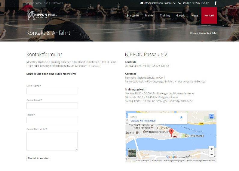 Website Sport-Verein Beispiel