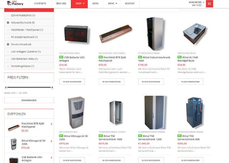 onlineshop erstellen f r elektronik webshop referenzen. Black Bedroom Furniture Sets. Home Design Ideas