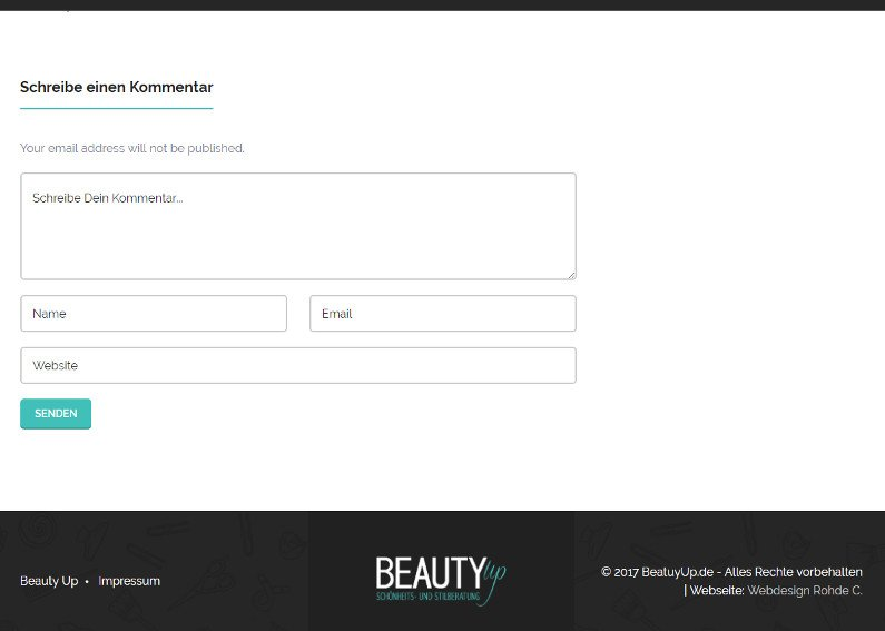 Beauty Homepage-Erstellung