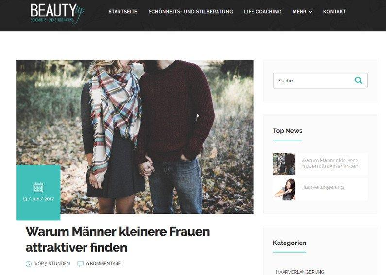 Beauty Homepage-Erstellung