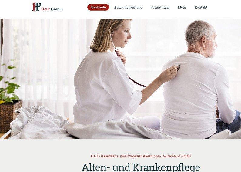 Altenpflege Internetseite