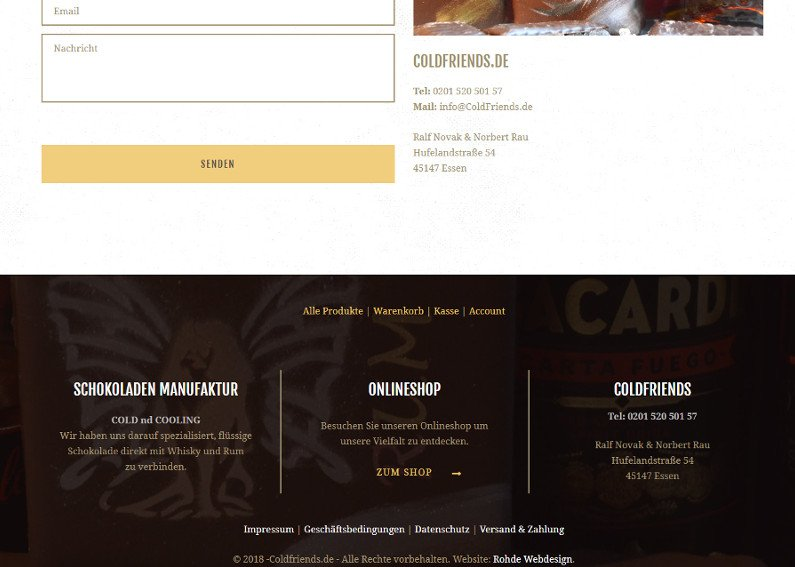 Webshop Schokolade Verkauf