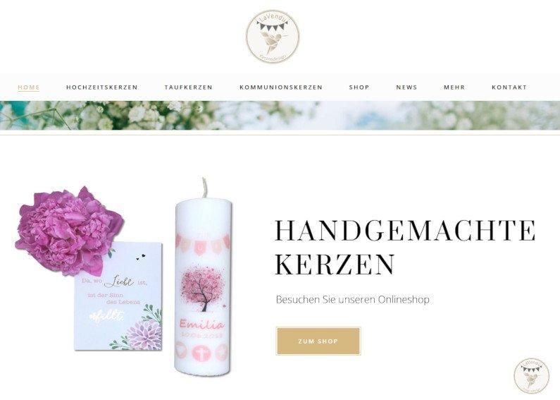 Onlineshop für Kerzen