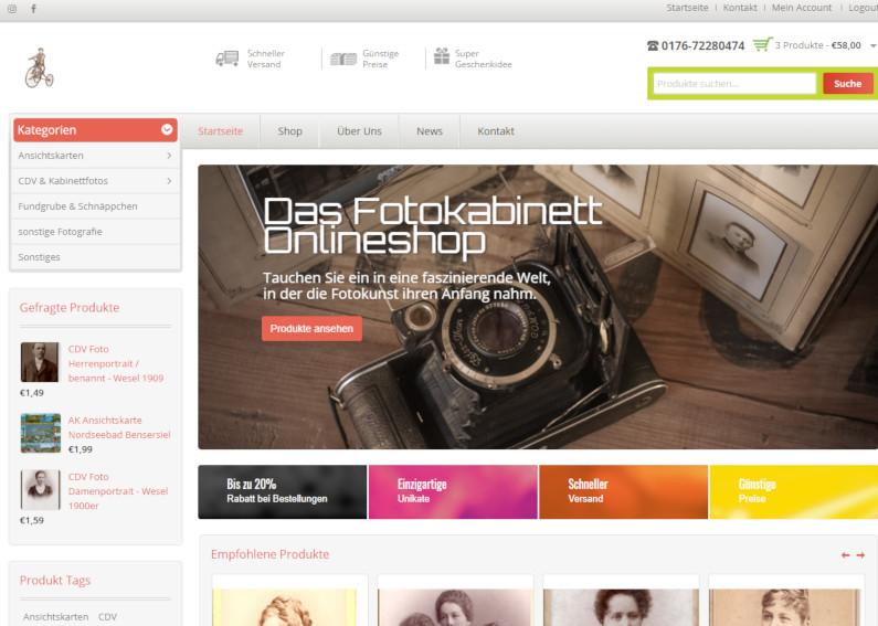 Großer Onlineshop für Fotos