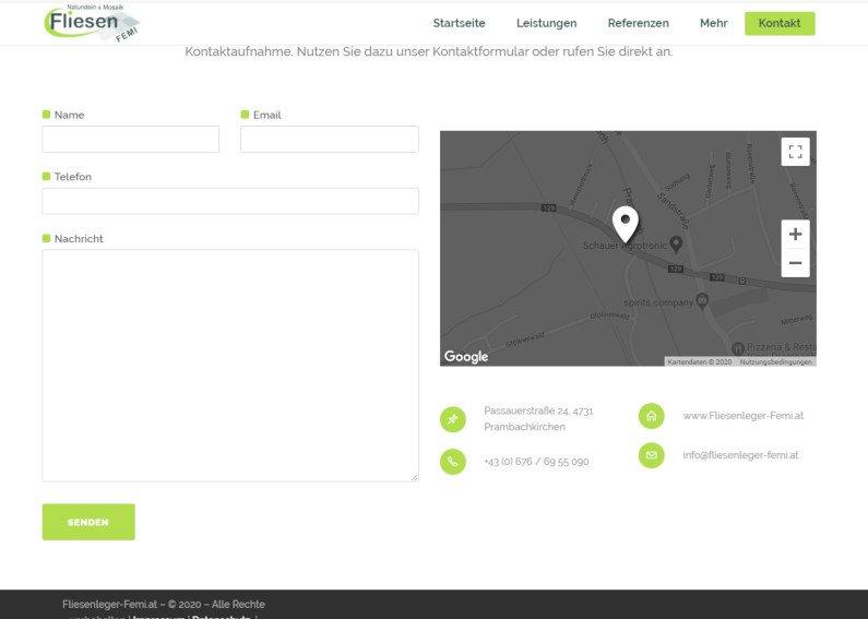 Fliesenleger Homepage