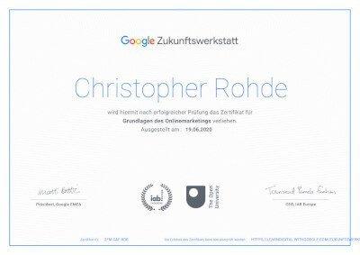 Google Business Marketing Zertifizierung