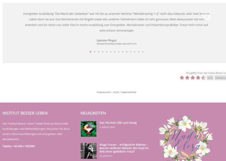 Redesign WordPress Webseite