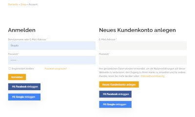 1 Klick Login & Registrierung Worpdress