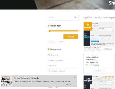 Verkaufs-Push- Nachrichten Onlineshop